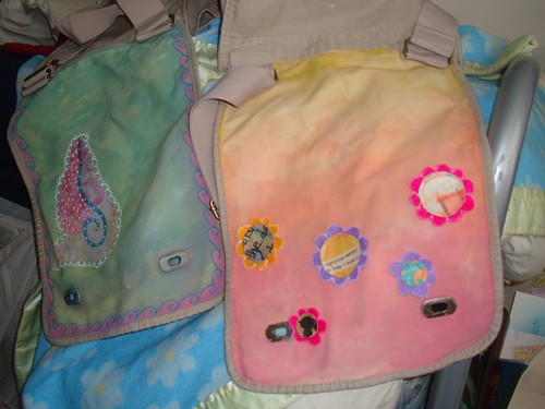 'heart on my shoulder' bags in progress