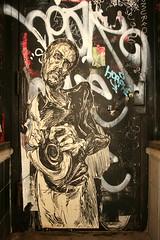 Elbow-Toe (carnagenyc) Tags: nyc streetart newyork elbowtoe nystreetart horfe horphe smurfo
