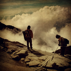 Above The Clouds (wazari) Tags: travel heritage clouds vintage climb high nikon asia southeastasia mood place memories d70s descent rope retro worldheritagesite adventure journey memory malaysia borneo wife destination mountkinabalu climber awan sabah asean kinabalu traveler adventurer abovetheclouds trekker kundasang ranau gunungkinabalu kinabalupark northborneo tapakwarisandunia akinabalu theunforgettablepictures wazari tamankinabalu wazariwazir