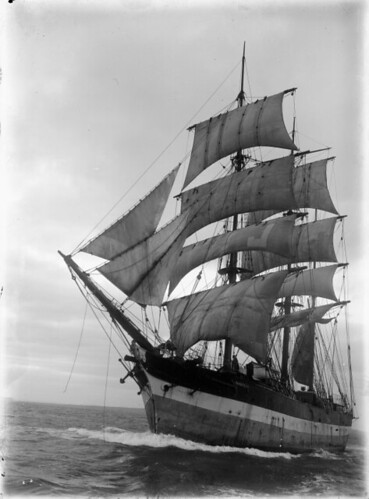 Sailing ship Manurewa ca 1910