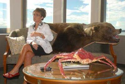 Sarah Palin - Bear Skin