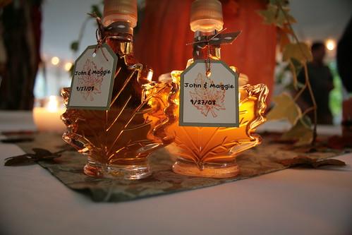 maple wedding favors