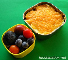 Shepherd's pie bento lunch for preschooler