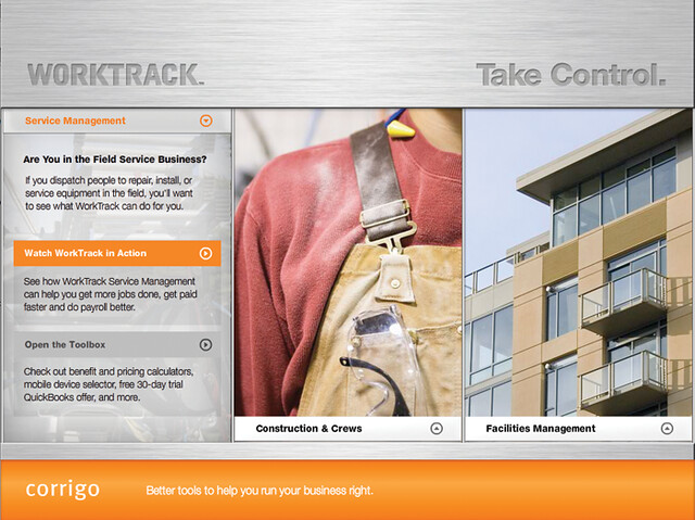 WorkTrack Launch Campaign Flash Demo by tenfour archive