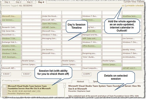 PDC2008 Calendar