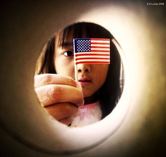 Melting pot of nations. (Z.H.L Photography) Tags: china america flag country chinese patriotic american