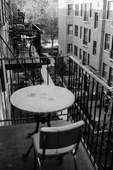 what do you go home to? (aye_shamus) Tags: blackandwhite bw film 35mm canon balcony iso fujifilm neopan 100 canonet ql17 giii tmaxdev acros 100iso canonetgiiiql17 neopanacros neopanacros100 vuescan classicblackwhite canoscan8800f