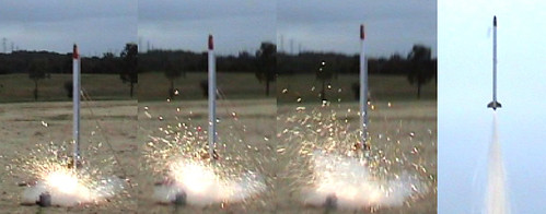 Big Rocket with Sparkly KNO3 motor