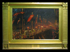 London Bridge at Night by William Holman Hunt (Martin Beek) Tags: detail art museum artist victorian artworks preraphaelite colection williamholmanhunt victorianart preraphaelitism avirtualmuseum 18271910 wiliamholmanhunt preraphaelitepainters