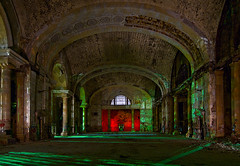 The Main Hall (Noel Kerns) Tags: abandoned station night ruins michigan detroit central terminal depot