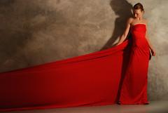Diva (Nannile) Tags: red studio model dress diva