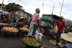 Market in downtown Port-au-Prince (Andrew Welch Photography) Tags: haiti voodoo portauprince voodou guede gud