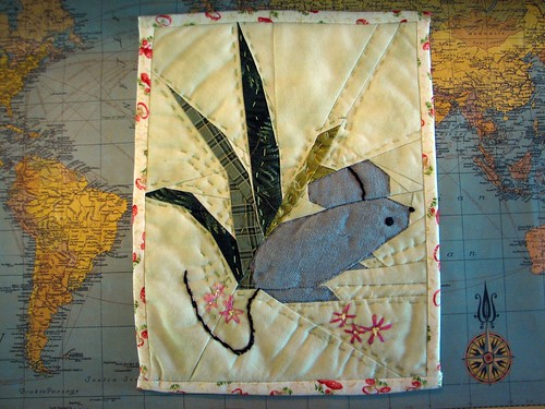 "8x10"" mouse quilt block pattern by Artisania"