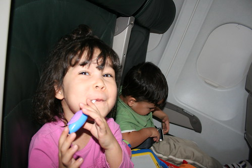 On an airplane