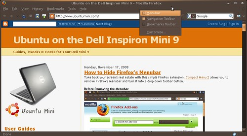 Screenshot-Ubuntu on the Dell Inspiron Mini 9 - Mozilla Firefox
