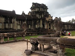 outer temple with naga balustrades