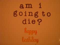 Inside of birthday card