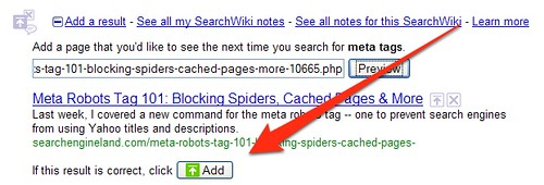 SearchWiki Add