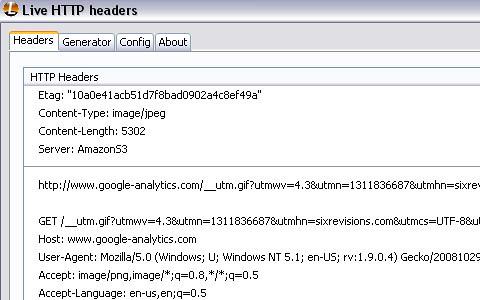 15 Add On Firefox web developer Live HTTP Headers