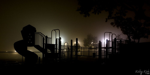 Playground in Fog