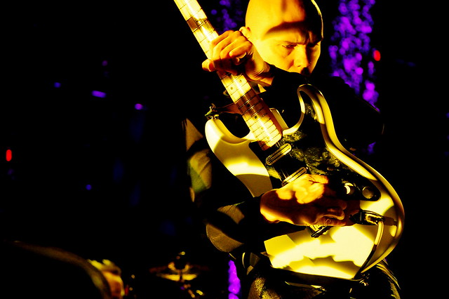 Billy Corgan shreds the guitar