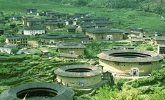 fujian tulou  (placchic) Tags: china travel architecture 50mm asia pentax chinese olympus snap  fujian om f18 hakka zuiko  worldheritage   tulou          k20d