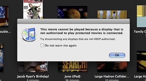 iTunes HDCP