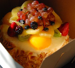 (chiligirlll) Tags: cake fruit yummy strawberry delicious bakery pastry frenchpastry lebonnebouchee glaceedfruit