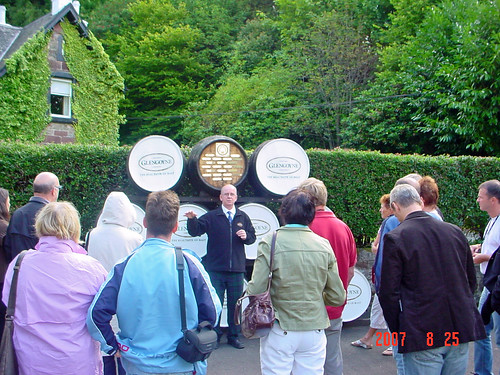 Tour Group at Glengoyne