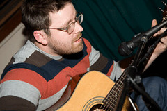 Dan jamming on the guitar (jhpadv) Tags: tot jhp joneshuyettpartners 2008holidayparty