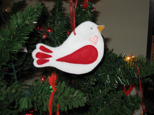 Bird Felt Ornament 1