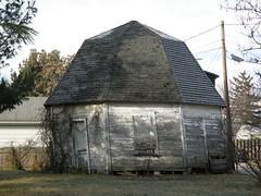 Round Barn 1 (Hammer51012) Tags: barn geotagged lafayette shed indiana olympus round sp570uz