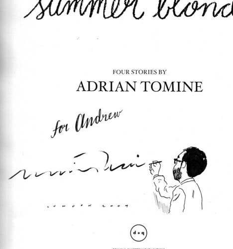 Adrian Tomine autograph