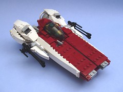 RZ-7 A-Wing Evolution (peterlmorris) Tags: toy starwars fighter lego evolved returnofthejedi georgelucas 1138 moc starfighter awing rz1 foitsop rz7