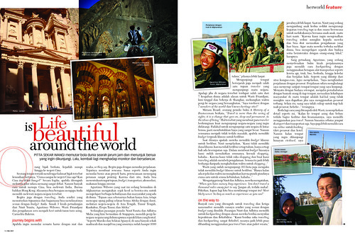 herworld magazine - topik feature tema Globetrotter edisi May 2009