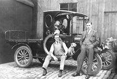 Image titled Milk Lorry & Dugs,1925.
