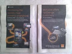 orangle motorola atrix android advert