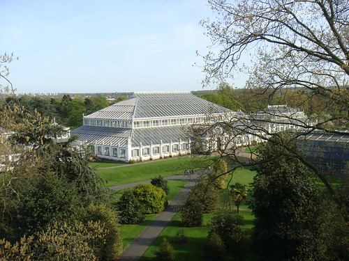 Temperate House con Londres al fondo