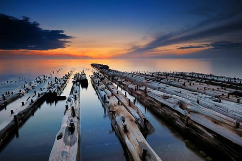 """Graveyard Coast II "" - (Mary Jarecki shipwreck) , Pictured Rocks National Lakeshore"