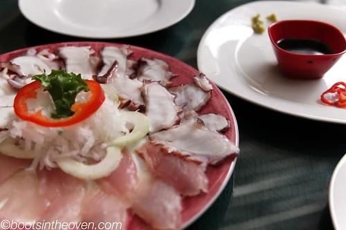 Sashimi de Pulpo (octopus sashimi)
