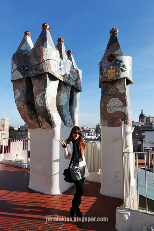 taking photo with chimneys