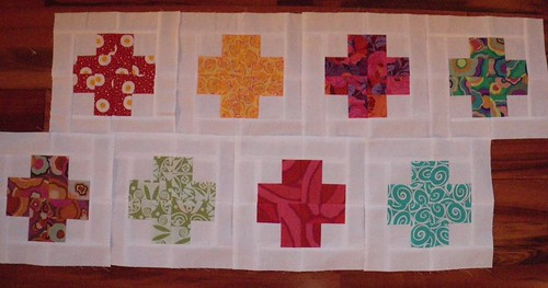 Modern Crosses Quilt - so far