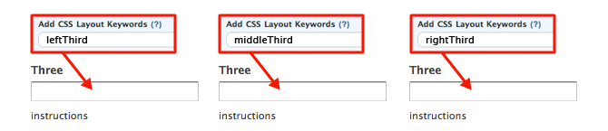 CSS Keywords leftThird middleThird rightThird