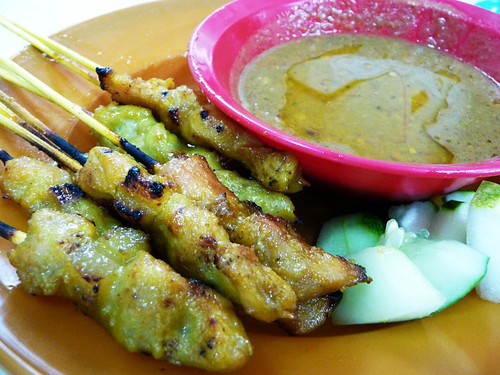 Ipoh Thean Chun - pork and chicken satay
