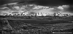 Morning Storm over Grand Teton, Grand Teton NP (Edward Mendes) Tags: road ranch park county trip travel white mountain storm black west art home nature beautiful beauty june rock horizontal wall clouds america fence landscape photography photo spring nikon triangle peace hole head pano tripod fine scenic peaceful grand x panoramic jackson adventure edward national american workshop zen wyoming teton nikkor decor range mendes breaking manfrotto 18200mm specnature vrii d7000 sbfmasterpiece