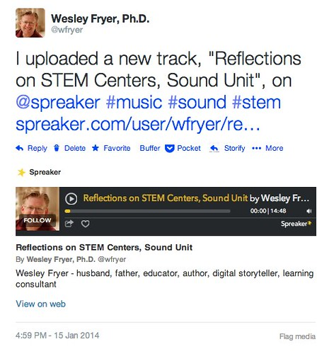 Podcast on the Go Example with Spreaker by Wesley Fryer, on Flickr
