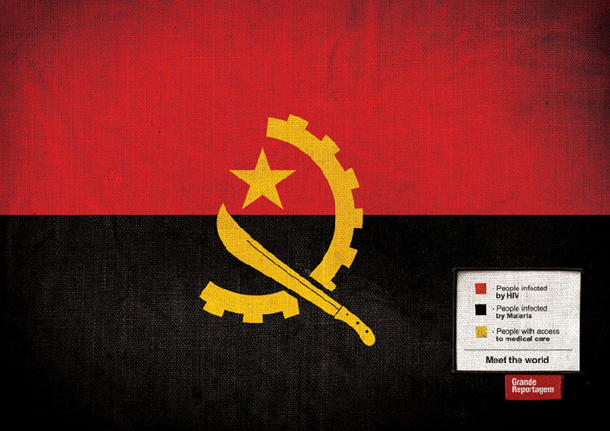 """Meet the world"" - Grande Reportagem - Bandera de Angola"