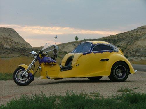 vw beetle classic custom. Custom VW Beetle Trike - 1987