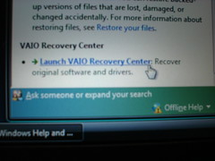 making recovery discs (nodomain1) Tags: harddrive vaio recovery