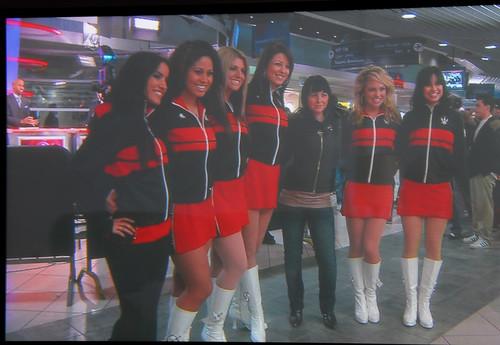Jorie and Raptors Dance Pack on TV